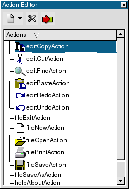 how to delete empty action editors