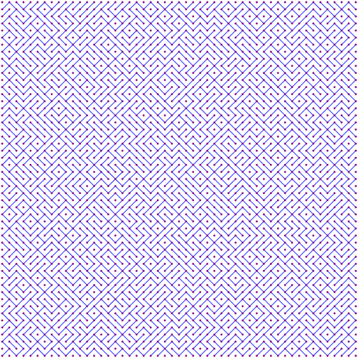 Random Diagonals 50x50