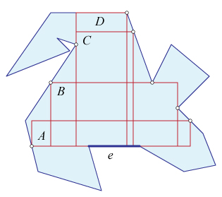 Rectangles in a polygons