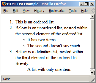 how to use ordered list in html