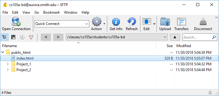 Transferring Files To Your Course Account