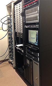 Bass Data Center - Servers in a rack