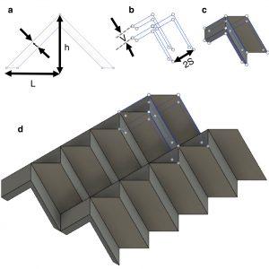 CAD drawing of Miura pattern