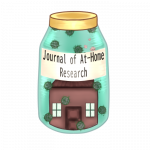 Jar with home inside covered with viral particles