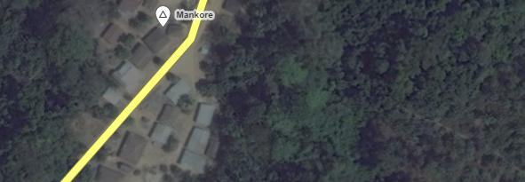 The village of Mankore in rural Sierra Leone