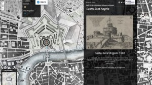 One chapter from the When in Rome Story Map with a historic Rome map by Giambattista Nolli from 1748.
