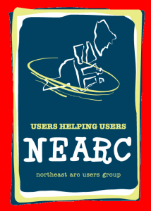logo of the Northeast Arc Users' Group (NEARC) and their motto: users helping users.