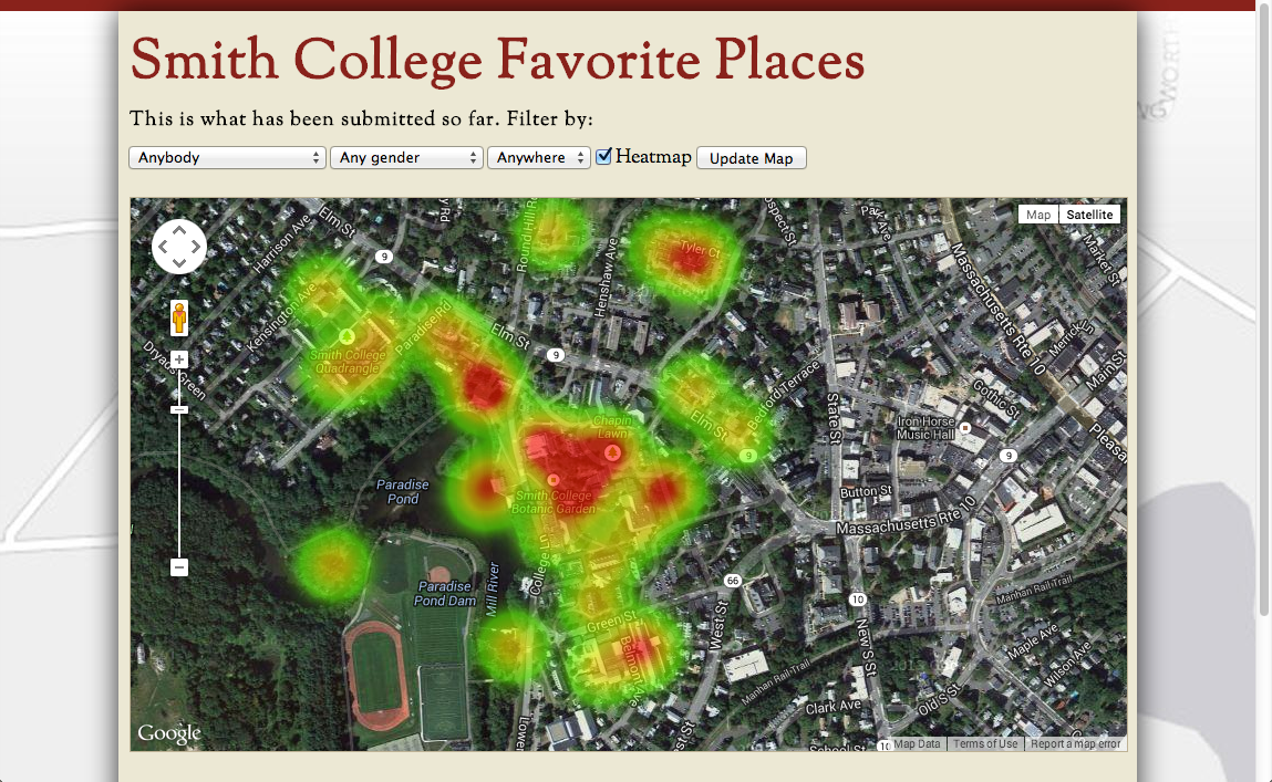 Smith College Favorite Places App
