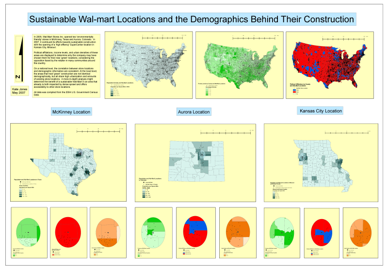 Sustainable Wal-Mart Locations and the Demographics Behind Their Construction