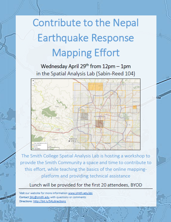 Nepal Earthquake Response Mapping Workshop