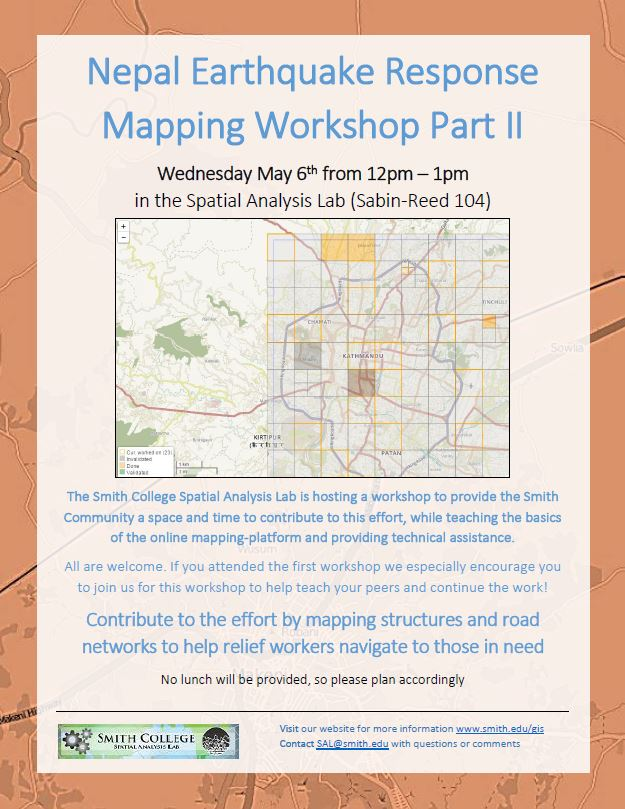 Nepal Earthquake Response Mapping Follow-up Workshop